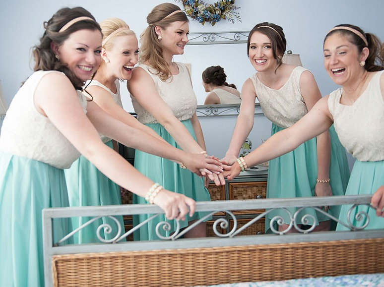 The awesome bridal party girls!